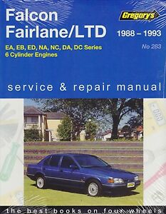 Gregorys workshop repair manual ford falcon ea eb ed fairlane na nc image is loading gregorys workshop repair manual ford falcon ea eb cheapraybanclubmaster Images
