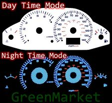 00-04 Ford Focus Carbon WHITE FACE BLUE INDIGLO GLOW GAUGES