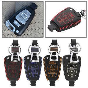 For-Hyundai-Veracruz-07-2012-Remote-Key-Bag-Case-Fob-Holder-Chain-Cover-4-Button