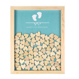 Image Is Loading Personalized Engraved Drop Top Guest Book Wooden Frame