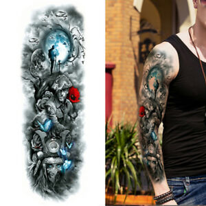 Details about Long Tattoo Sleeves for Men Tribal Solideir Warrior Cover  Adult Realistic UK