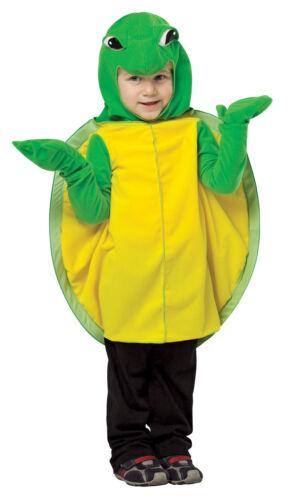 Turtle Plush Mascot Child Costume Green /& Yellow Tunic Halloween Rasta Imposta