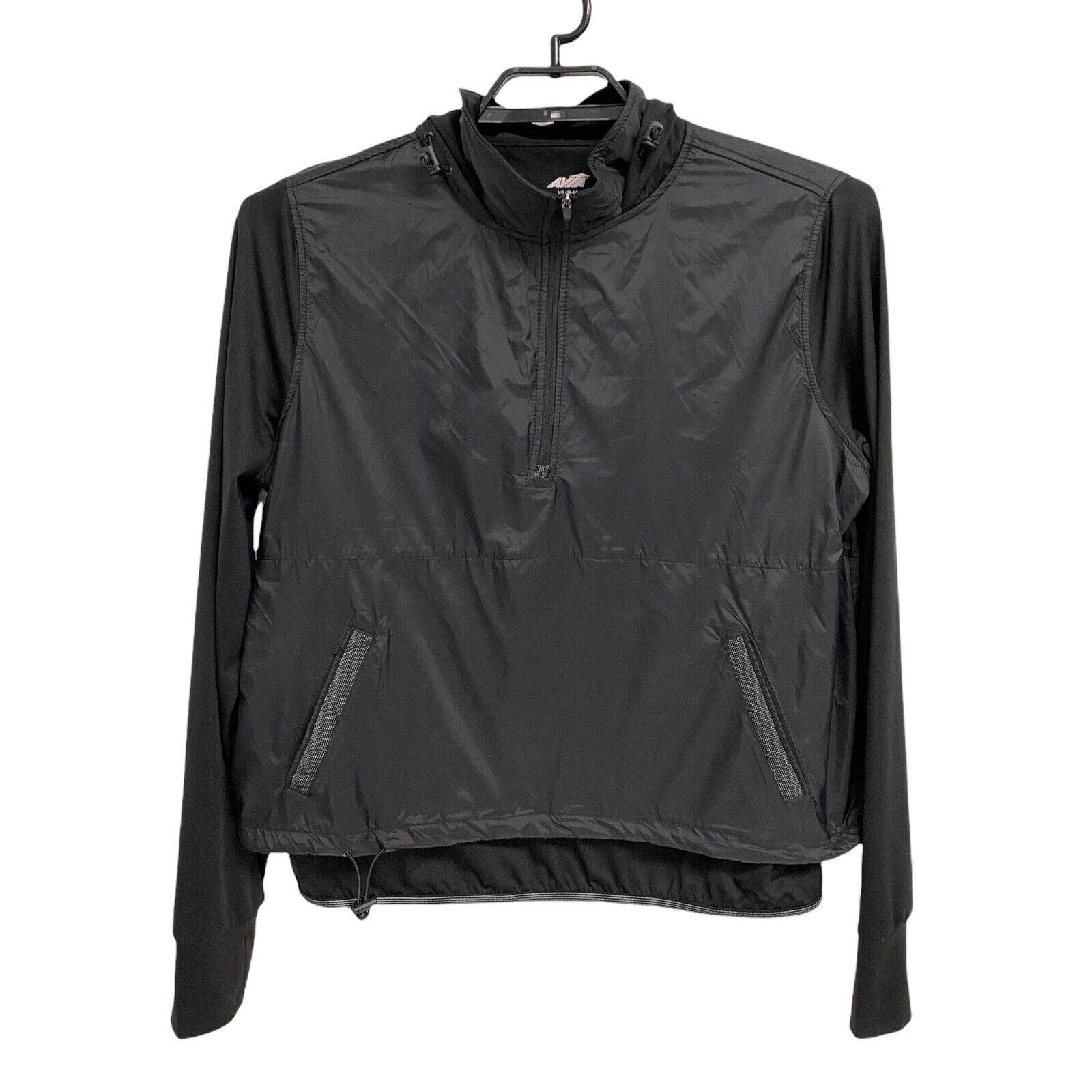 Avia Damen Sportbekleidung Jacke Schwarz Halb Reißverschluss Kapuze Größe L/G (