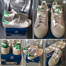 SOLD OUT RARE FOOTLOCKER X STAN CANVAS WOVEN WHITE UK 7