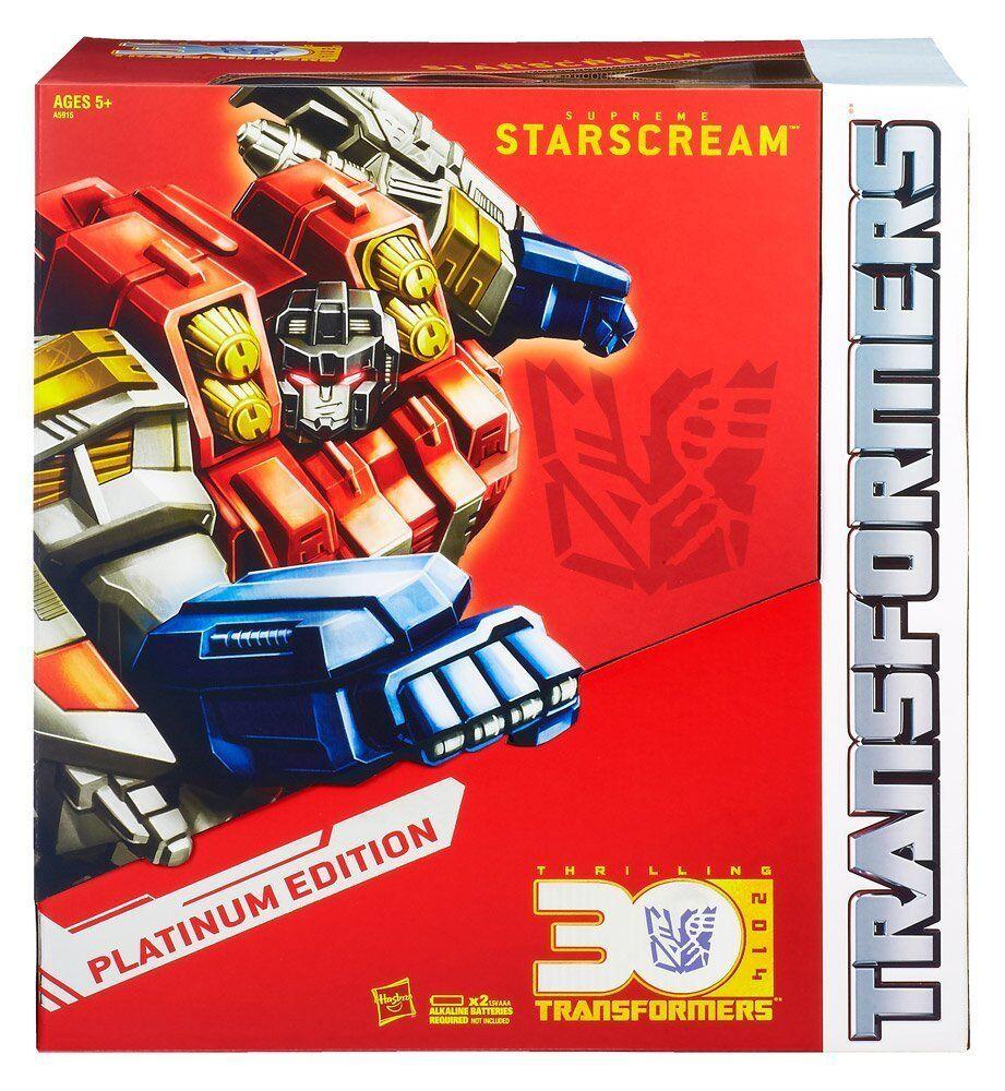 Transformers STARSCREAM Anno del Cavallo 30TH ANNIVERSARIO PLATINUM EDITION