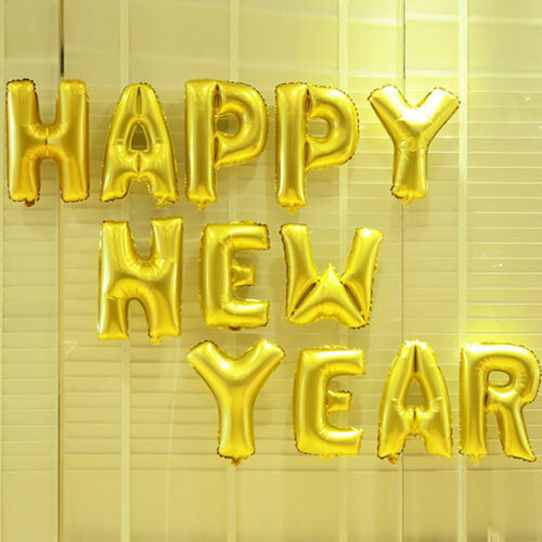 Aluminum Foil Happy Birthday New Year Merry Christmas Letters Balloons Festivals