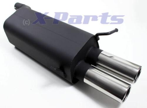 Escape deportiva mercedes clase c CLK w203 ECE 2x76mm alrededor de silenciador de acero inoxidable