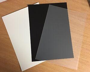 A4-Coloured-Polypropylene-Plastic-Sheet-0-8mm-Model-Making-Arts-amp-Crafts