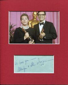 Alan & Marilyn Bergman Songwriter Oscar Winner Signed Autograph Photo Display