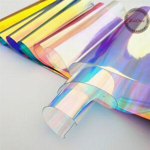 Transparent-Clear-Holographic-Iridescent-PVC-Fabric-Mirror-Film-Vinyl-Bag-Craft