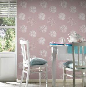 EUR-2-34-qm-Tapete-Schoener-Wohnen-9-32454-2-Floral-Blumen-Altrosa-Blueten