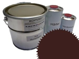 3 Liter Set 2K Floor Color Floor Ral 8016 Vinyl-Epoxid-Lack Lackpoint Shine