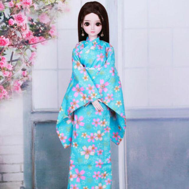 60cm BJD Doll 1/3 Ball Jointed Girl Face Makeup Wig Dress