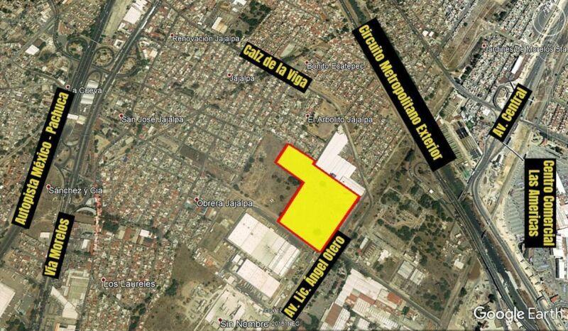 Vendo 6.8 Has Industriales en Ecatepec