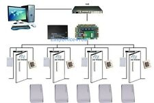 Office Door Access Control+Power supply box/4 Readers/Switch/100 PCs RFID Cards