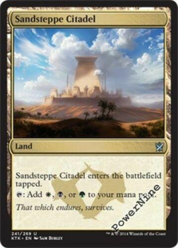 Land Khans of Tarkir Mtg Magic Uncommon 1x x1 1 FOIL Sandsteppe Citadel