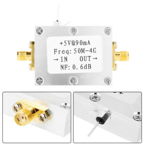 Faible bruit Amplificateur LNA 50M-4GHz Nf = 0.6dB RF FM HF VHF/UHF Ham 110dBm Hot