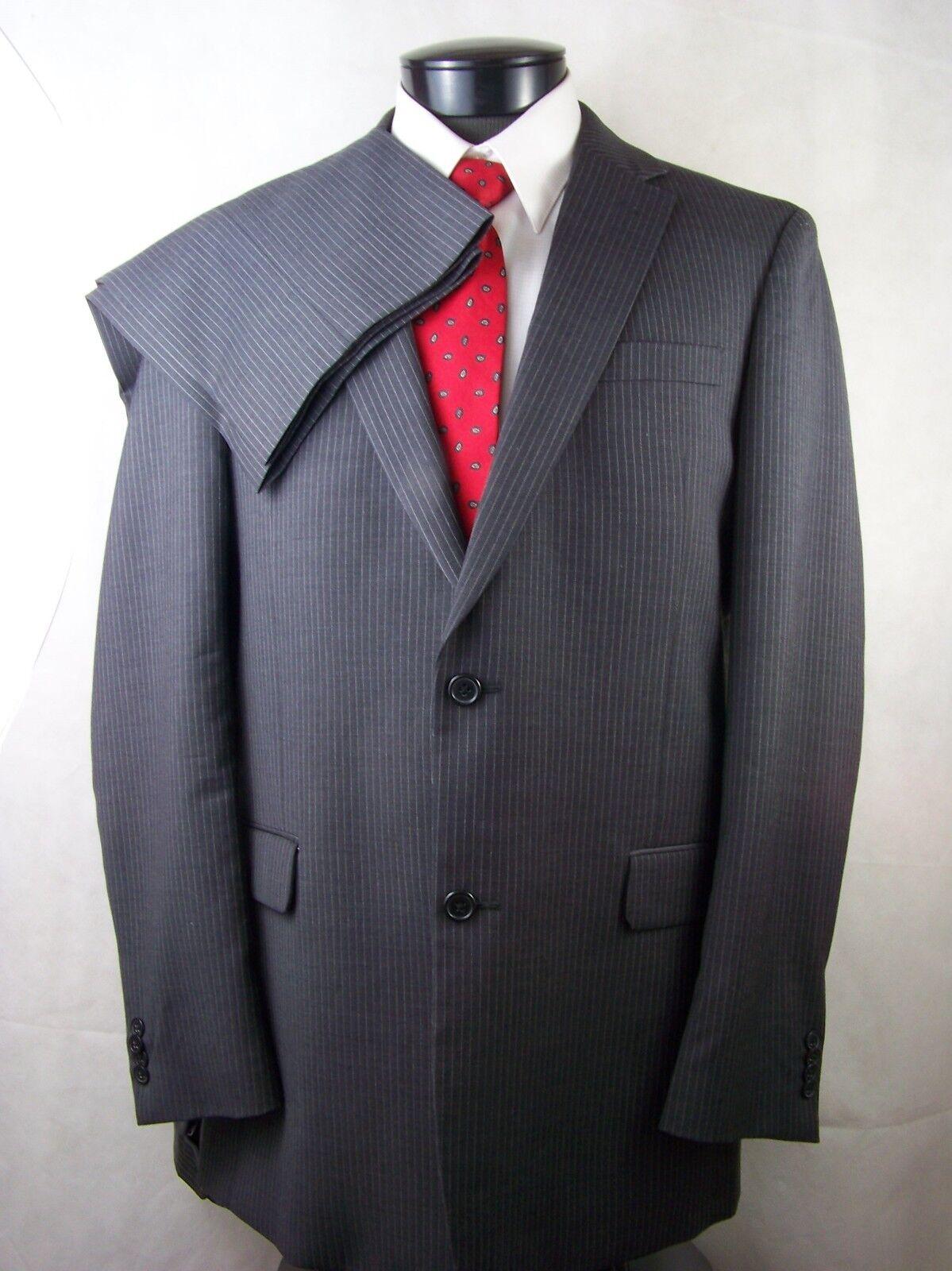 Tommy Hilfiger Suit  Herren grau Striped 2 Button 100% Wool