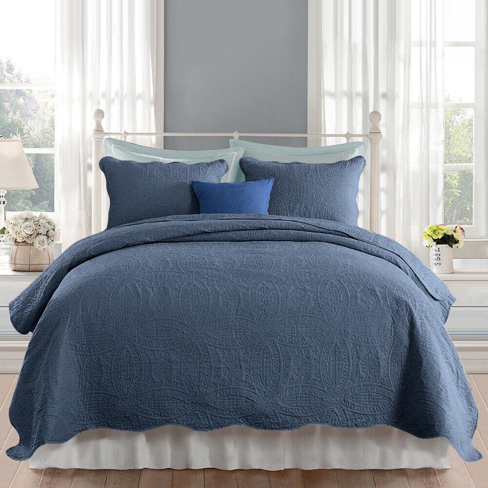 3 pieces Bedspread Bed Throw 220x240 240x260 260x270 cm with Pillowcase XL XXL