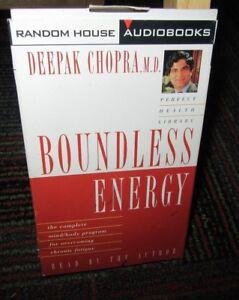 BOUNDLESS-ENERGY-CASSETTE-AUDIOBOOK-DEEPAK-CHOPRA-OVERCOME-CHRONIC-FATIGUE