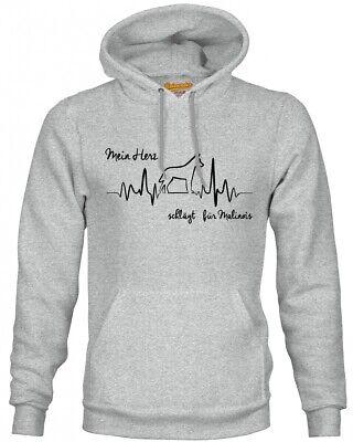 MALINOIS SWEATSHIRT HEARTBEAT EKG by SIVIWONDER