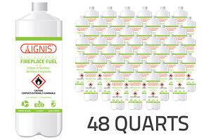 Ignis-Bio-Ethanol-Fuel-48-Pack-Ethanol-Fireplace-Fuel-1-Quart-per-Bottle