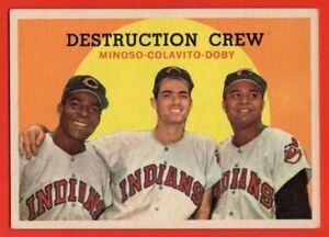 1959-Topps-166-Destruction-Crew-EX-EXMINT-Lary-Doby-HOF-Minoso-Rocky-Colavito