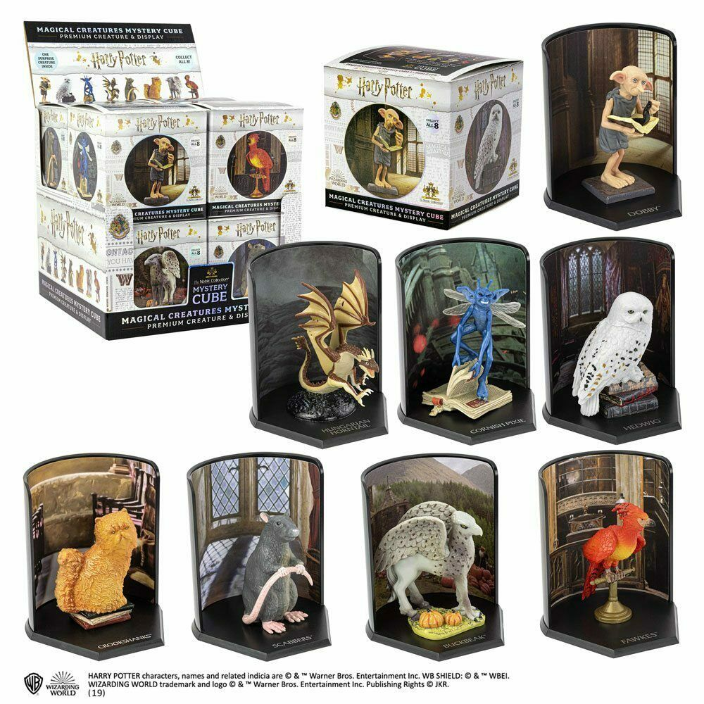 Harry Potter Potter Magical Creatures Mystery Cube Statues 7 cm Display (8) Noble