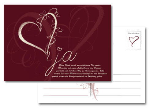 Ballonflugkarten Wettflugkarten Ballonflug Karten Hochzeit Trauung Geburtstag