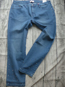 Sheego-Stretch-Jeans-Size-42-to-58-Blue-Blue-465-with-Sequins-New