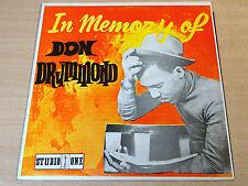 EX-/EX !! Don Drummond/In Memory Of/1969 Studio One LP/Rare Reggae