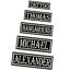 BIKER-PATCH-AUFNAHER-vers-Groessen-Wunschname-Namensschild-gestickt-Kutte-Firma Indexbild 1