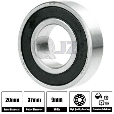 Ball Bearing 20mm x 37mm x 9mm Rubber Seal Premium RS 2RS Shielded 1x 6904-2RS