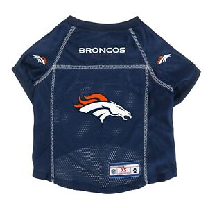 Denver-Broncos-LEP-NFL-Dog-Mesh-Jersey-Officially-Licensed-Blue-Sizes-XS-XL