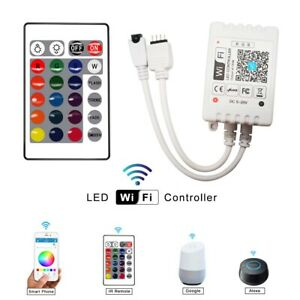 WiFi-Smart-LED-Strip-Light-Controller-RGB-IR-Remote-Control-Alexa-Google-Home