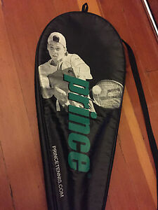 PRINCE Shark 26 Mid plus Junior Tennis Racquet & Cover SIGNED by GUILLERMO CORIA