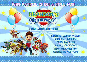 picture relating to Paw Patrol Printable Birthday Card called Info more than PAW PATROL Customized PRINTABLE BIRTHDAY Occasion INVITATION Cost-free THANK U CARD