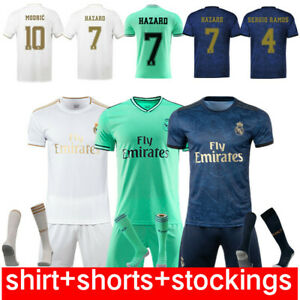 New 19//20 Kids Boys Football Full Kit Youth Jersey Strips Soccer Sports Outfit