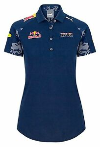 Red-BULL-F1-Formula-One-Racing-WOMEN-039-S-DONNA-POLO-Blu-Tag-Heuer-RRP-65