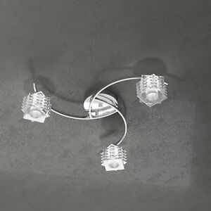 Plafoniera lampadario soffitto design moderno cubo cristallo cucina bagno sala ebay - Plafoniera bagno soffitto ...