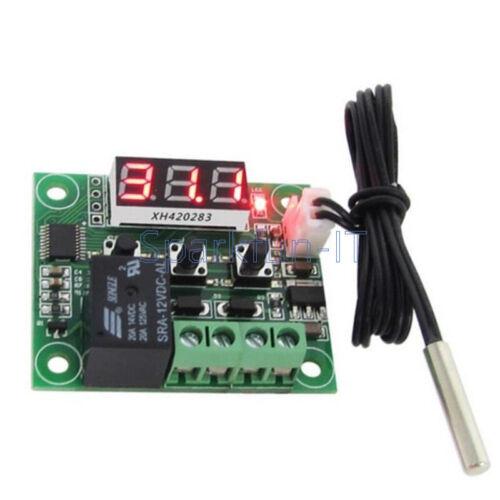50-110°C DC 12V Digital W1209 thermostat Temperature Controller Sensor Cable