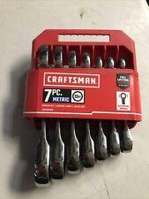 Craftsman 7 Piece Stubby Metric Ratchet Wrench Set New