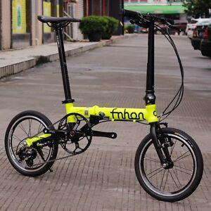 fnhon aluminum folding bike 14 to 16 mini velo urban commuter v brake 3 speed ebay. Black Bedroom Furniture Sets. Home Design Ideas