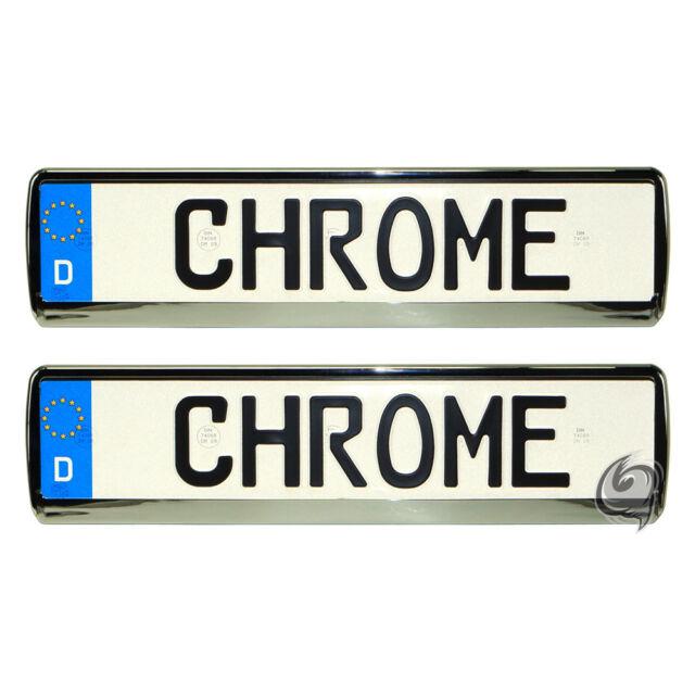 Kia 2x Chrom Look Kennzeichenhalter Kennzeichenrahmen Tuning Kennzeichen