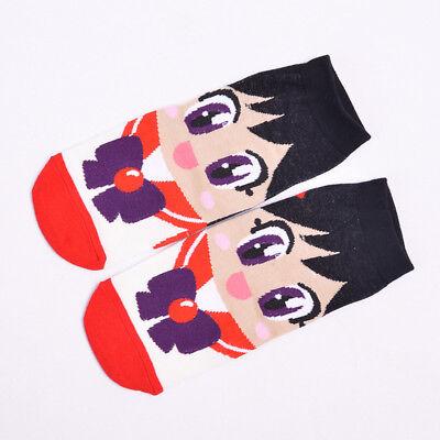 Cute Anime Costume Cartoon Sailor Moon Cotton Ankle Low Cut Short Funny Socks