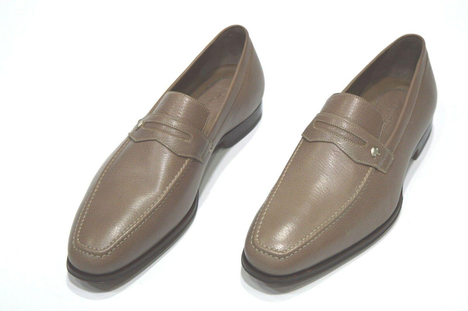 Nuevos Mocasines STEFANO RICCI con el logotipo de Lujo Zapatos Talla nos 9 (S839)