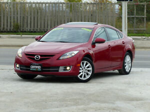 2011 Mazda 6 GT,LEATHER,FULLY LOADED,CERTIFIED,GRAND TOURING