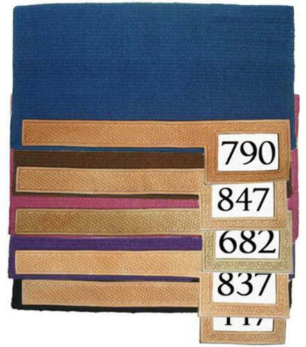 100/% Wool Trophy Show Horse Saddle Blanket Pad with Number Slot