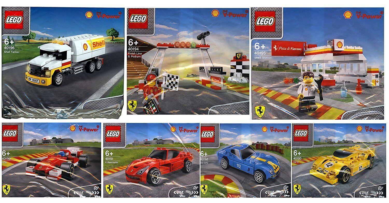 LEGO® SHELL FERRARI 7x POLYborsa 40190  40191 40192 40193 40194 40195 40196  prezzi bassissimi