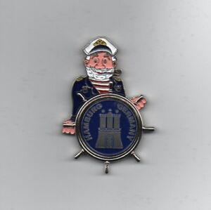 Aimant Hambourg capitaine Réfrigérateur Magnétique BLASON ziermünze souvenir Germany NEUF  </span>